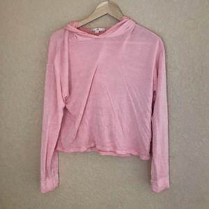 pink rose bubblegum pink hoodie